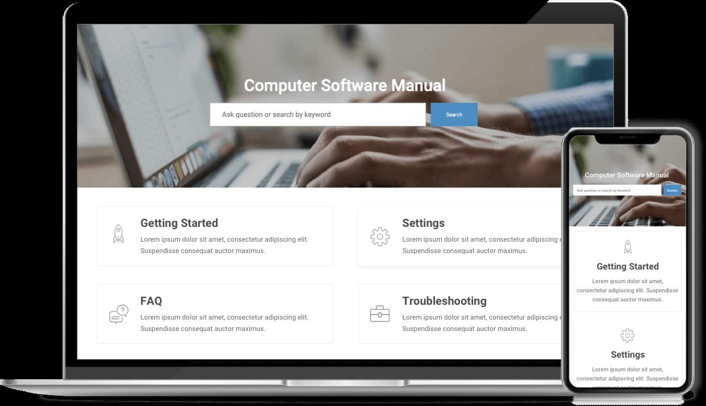 Computer Software Manual Template - ProProfs